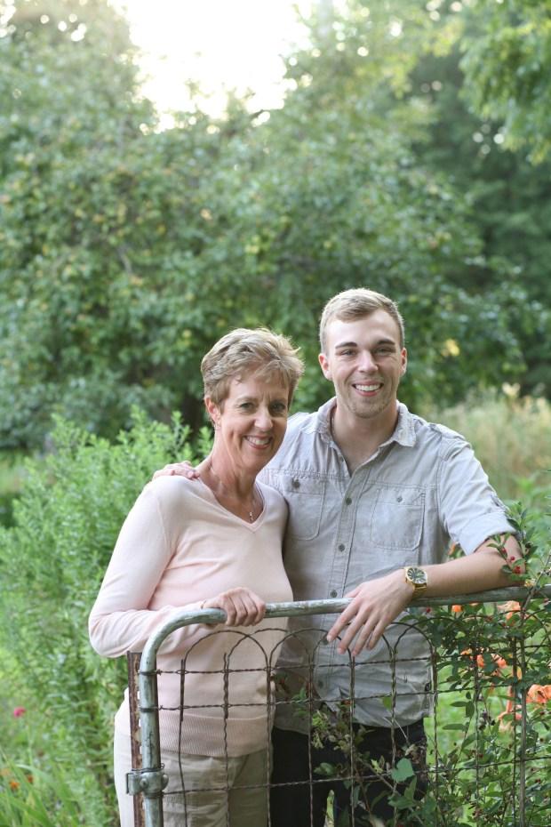 Martha Wegner with her son, David Wegner Hay.