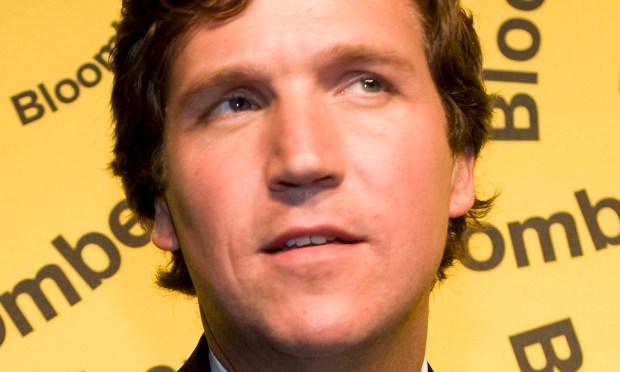 Political correspondent Tucker Carlson is 47. (Getty Images: Brendan Hoffman)