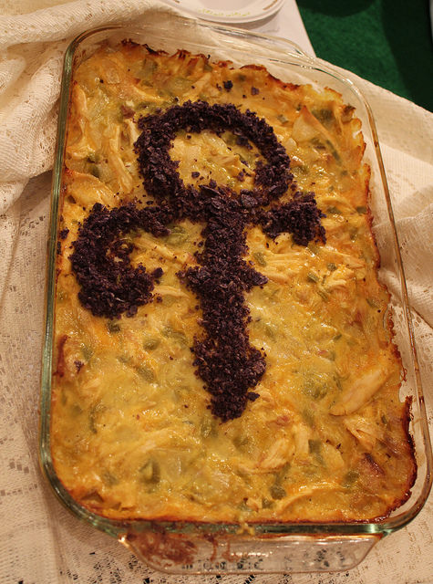 U.S. Rep. Keith Ellison's contest entry -- The Most Beautiful Hotdish in the World: Green Chile-Chicken Casserole -- paid tribute to the late Minnesota-born music superstar Prince. (U.S. Sen. Al Franken)