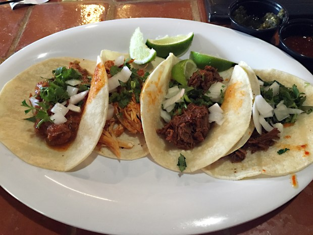 May 12, 2016 photo of Tacos at El Burrito Mercado in West St. Paul. (Pioneer Press: Jessica Fleming)