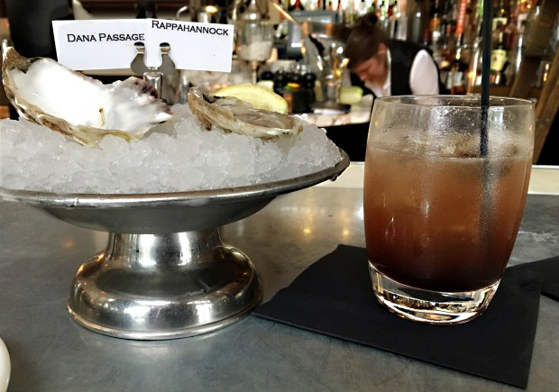 May 12, 2016 photo of oysters and gin punch at Meritage in downtown St. Paul. (Pioneer Press: Jessica Fleming)