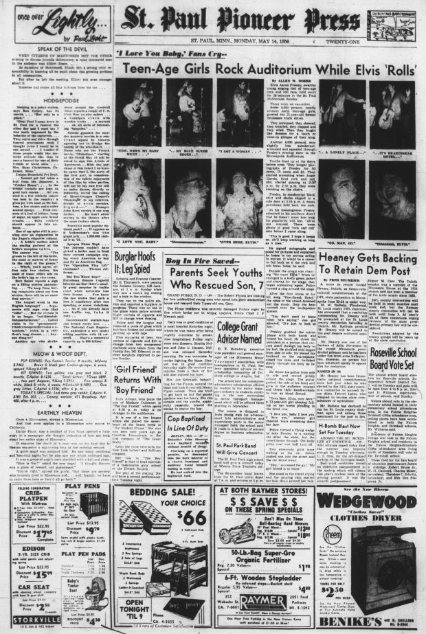 Elvis Front Page