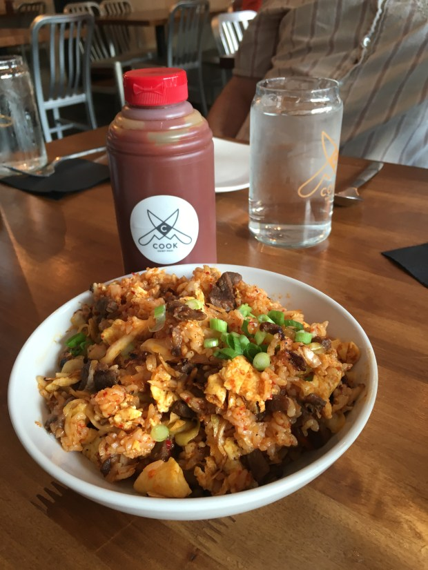 Cook St. Paul's house Korean hot sauce with fried kimchi. (Pioneer Press: Jessica Fleming)
