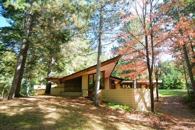The Frank Lloyd Wright-designed Lindholm House was recently disassembled and moved from Cloquet, Minn., to Polymath Park in Acme, Penn., where it will be reconstructed. (Courtesy photo)