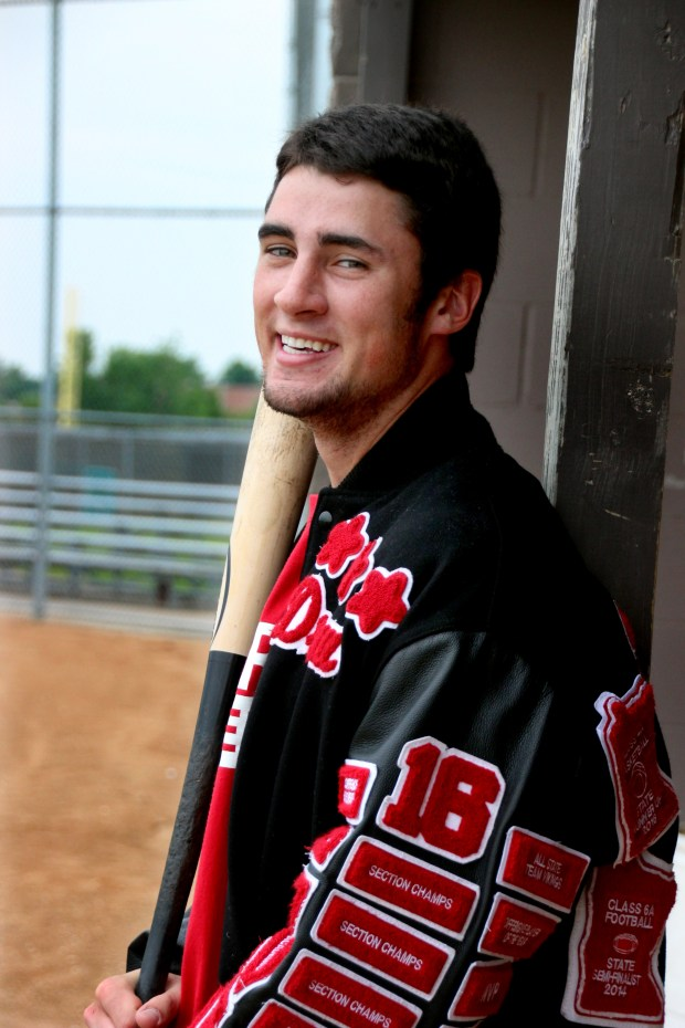 June 2016 photo of Lakeville North senior Drew Stewart, a three-sport athlete who will be making his 10th state tournament appearance when Lakeville North faces Maple Grove Thursday in a Class 4A quarterfinal game of the State Baseball Tournament. (Special to the Pioneer Press: Nick Kelly)