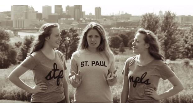 "Visit St. Paul marketing staff star in the tourism bureau's Adele parody video, ""Hello, Minneapolis! Love, St. Paul."" (Courtesy of Visit St. Paul)"