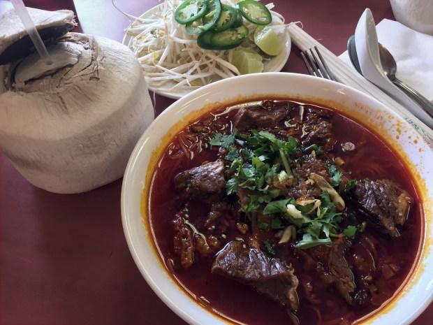July 5, 2016 photo of Kor Koo Noodle Soup at Cheng Heng. (Pioneer Press: Nancy Ngo)