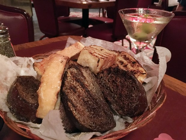 July 8, 2016 photo of garlic toast at Mancini's in St. Paul. (Pioneer Press: Jessica Fleming)
