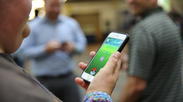 Richfield-based Best Buy recently opened its doors to Pokémon Go players. About 60 showed up. The company is among local businesses trying to derive a business edge and customer good will from the popular phone-based game. (Courtesy photo: Best Buy)