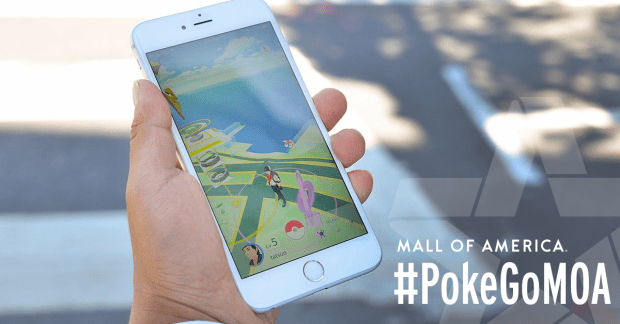 The Mall of America recently welcomed Pokémon Go players with phone charging and other amenities at a themed lounge in the main rotunda. (Courtesy Photo: Mall of America)