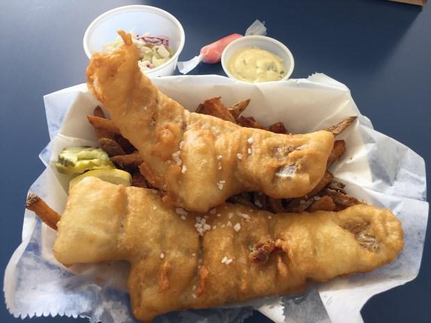 July 5, 2016 photo of Fish & Chips at Mac's (Pioneer Press: Nancy Ngo)