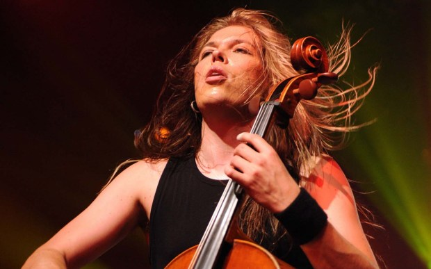 Cellist Eicca Toppinen of the Finnish metal band Apocalyptica -- three classically trained cellists that started out as a Metallica tribute band -- is 41. (Getty Images: Bryan Bedder)