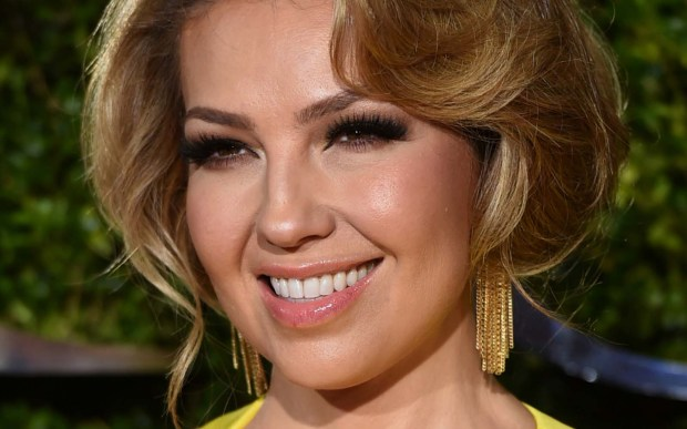 World music singer Thalia of Mexico is 45. (Associated Press: Evan Agostini)