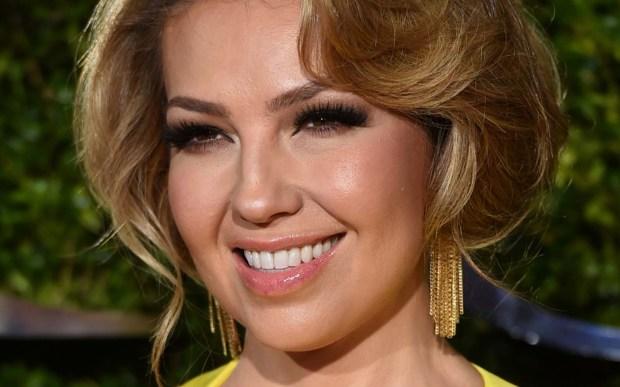 World music singer Thalia of Mexico is 45. (Associated Press: Evan Agostini)