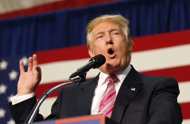 Republican presidential candidate Donald Trump speaks at a campaign rally in Fredericksburg, Va., on Aug. 20, 2016. (AP Photo/Gerald Herbert)