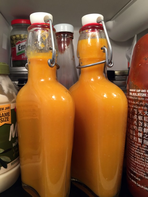 August 30, 2016 photo of homemade Belizean style hot sauce. (Pioneer Press: Jessica Fleming)