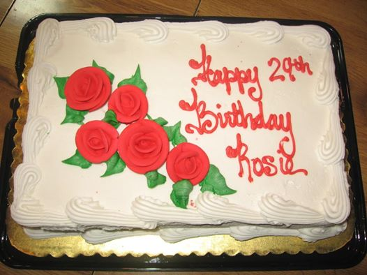 The cake that Roseanna Marie Forcum's father ordered for her in 2011. (Courtesy photo)
