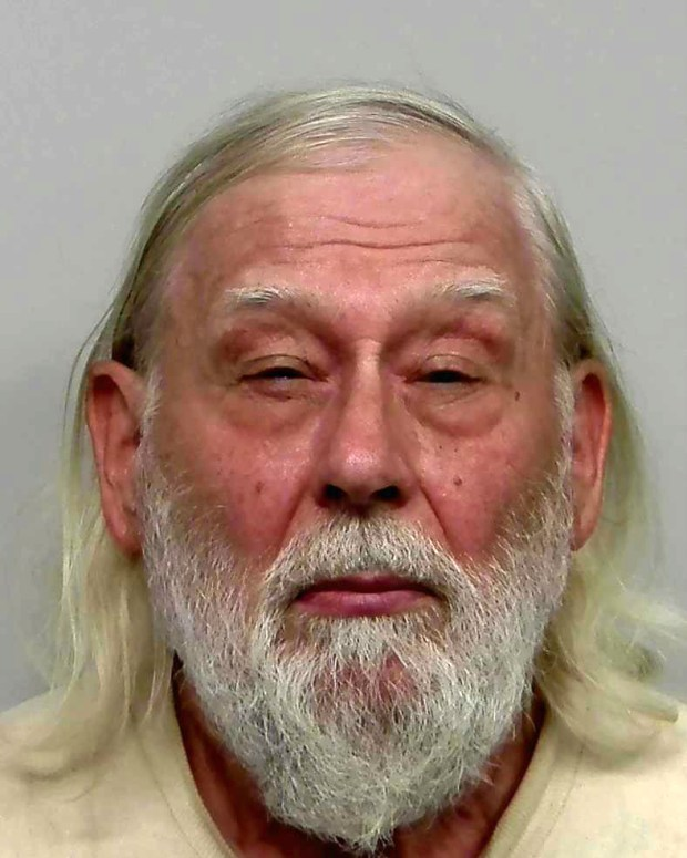 Carstie Lee Clausen, 71, of Clearbrook, Minn., was arrested Aug. 8, 2016, on suspicion of firing a rifle at a helicopter conducting a drug surveillance operation in northwestern Minnesota. A Polk County sheriff's deputy on board the aircraft was injured by breaking glass. (Forum News Service)