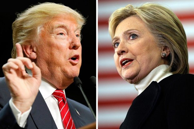 Donald Trump, left, and Hillary Clinton (Associated Press)