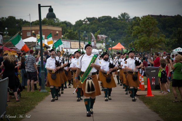 The Brian Boru Irish Pipe Band plays at Irish Fair. (Patrick McNeil photo)