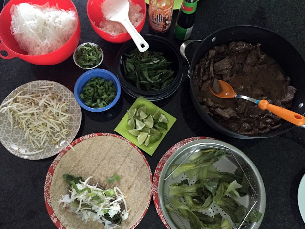 August 11, 2016 photo of Phorrito — a pho and burrito mash up — in the making. (Pioneer Press: Nancy Ngo)