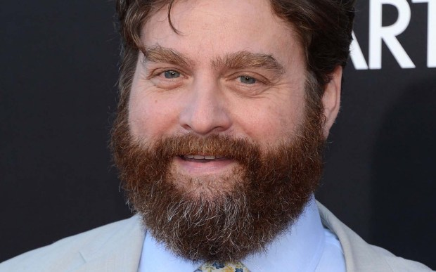 "Actor Zach Galifianakis of the ""Hangover"" movies is 47. He's responsible for ""Between Two Ferns with Zach Galifianakis"" and has an upcoming project with comic Louis CK, says IMDb. (Getty Images: Jason Kempin)"