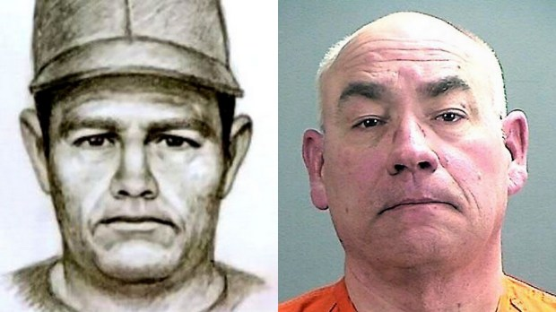 """A 1989 sketch of the suspect in the Jacob Wetterling abduction, left. At right is Daniel Heinrich, a """"person of interest"""" in the case."""