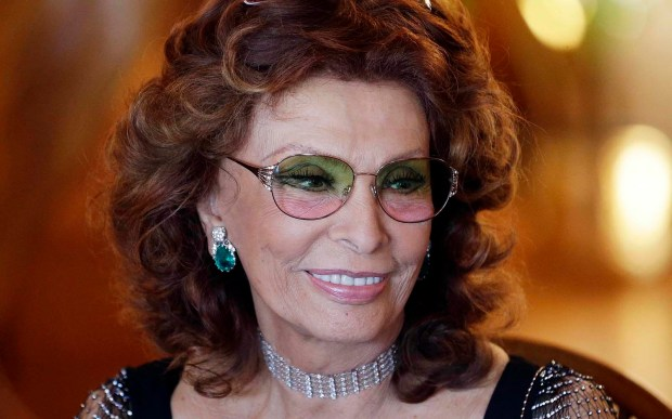"""Here she is today. Film star Sophia Loren — of """"Man of La Mancha,"""" """"El Cid"""" and """"Desire Under the Elms,"""" among many more — is 82. (Associated Press: Eric Risberg)"""