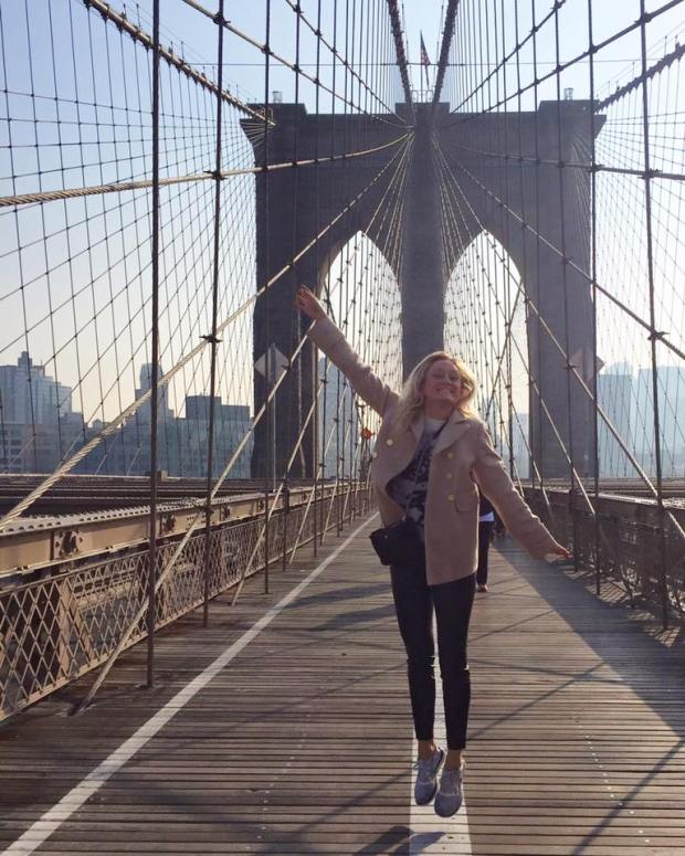 Alexandra Howard of Stillwater, a sophomore at the University of St. Thomas, is pretty excited about being an intern at Fashion Week in New York. (Courtesy photo)
