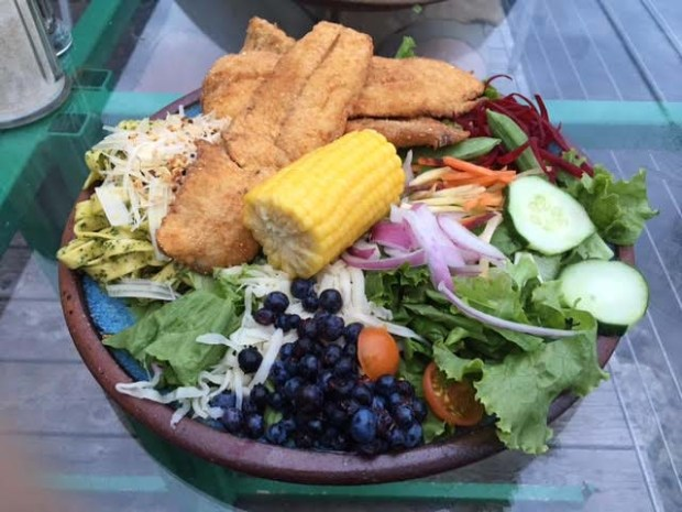 A spectacular salad at the Angry Trout restaurant in Grand Marais. (Pioneer Press: Amy Carlson Gustafson)