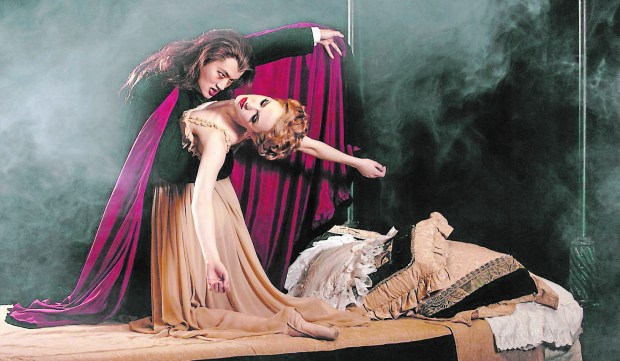 "The Royal Winnipeg Ballet in ""Dracula."""