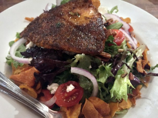 Sept. 28, 2016 photo of Blackened Catfish Salad at Dixie's in St. Paul. (Pioneer Press: Nancy Ngo)