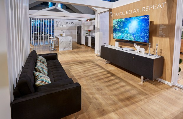 The Tech Home is divided into rooms -- including an office, living room, kitchen and bedroom -- each with gadgets relevant to that space on display. (Courtesy photo: Best Buy)