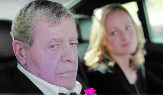 "Jerry Lewis is sad in ""Max Rose."""