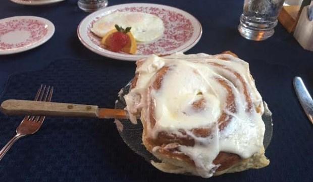 Nanijoubou Lodge and Restaurant's cinnamon roll (Pioneer Press: Amy Carlson Gustafson)