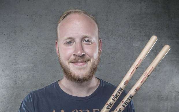 Drummer Timothy Malloy of the hardcore band Our Last Night is 28. (Courtesy of vicfirth.com)