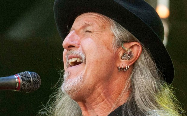 Singer Patrick Simmons of the Doobie Brothers is 68. (Associated Press: Barry Brecheisen)
