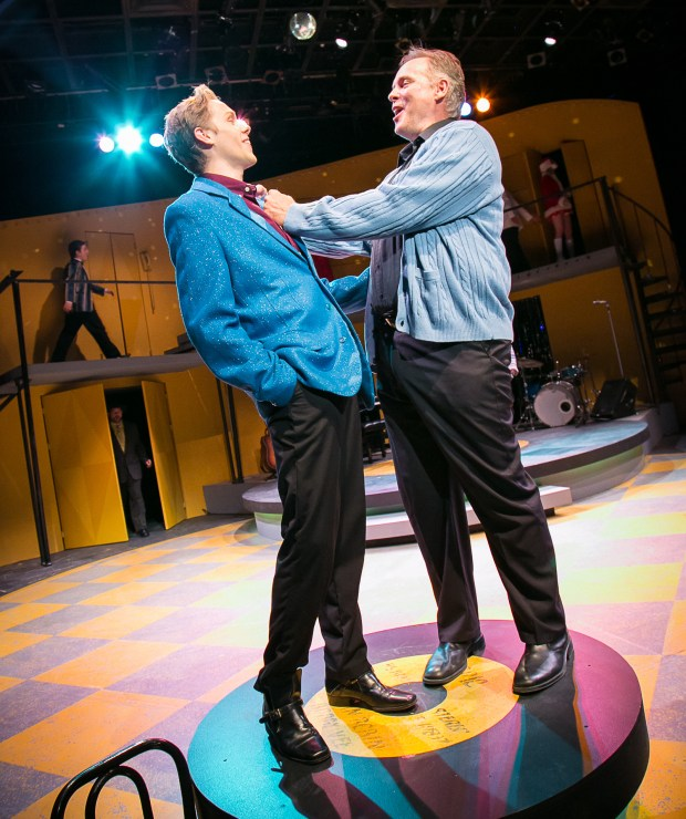 "Tyler Michaels, left, and Tod Petersen in ""Teen Idol: The Bobby Vee Story"" at St. Paul's History Theatre. (Rick Spaulding)"