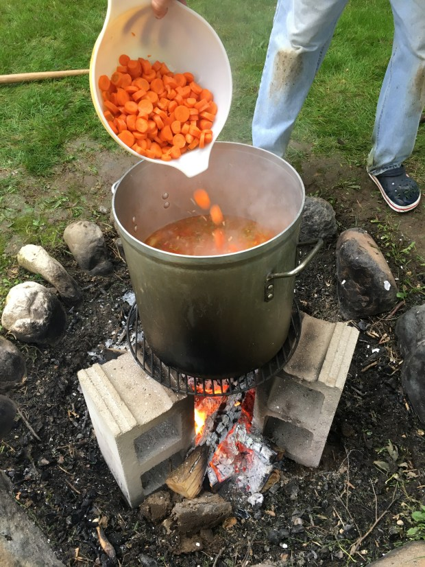 Oct. 6, 2016 photo showing lots of carrots added to the pot. (Pioneer Press: Jessica Fleming)