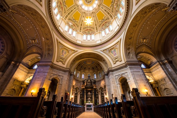 The interior of the Cathedral of St. Paul photographed Aug. 17, 2016. (Pioneer Press: Andy Rathbun)