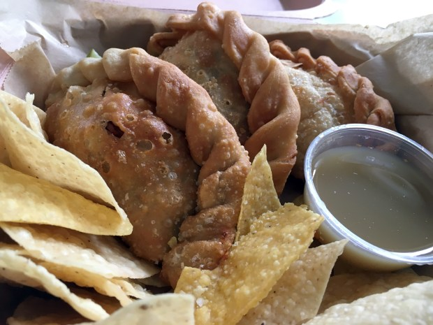 Oct. 20, 2016 photo of empanadas from MidNord empanada food truck. (Pioneer Press: Jessica Fleming)