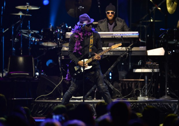 Mint Condition from Minneapolis performs at the Prince Tribute Concert at Xcel Energy Center in St. Paul on Thursday, Oct. 13, 2016. (Pioneer Press: John Autey)