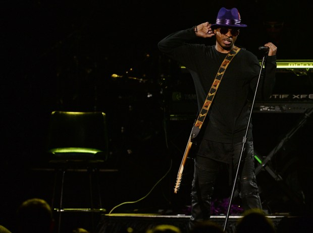 St. Paul's Mint Condition performs at the Prince Tribute Concert at Xcel Energy Center in St. Paul on Thursday, Oct. 13, 2016. (Pioneer Press: John Autey)