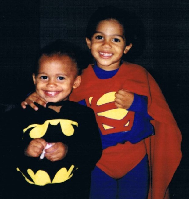 Undated courtesy photo of brothers Eric, left, and Mychal Kendricks, as youngsters in Fresno, Cali. The two will face each other in an NFL football game on Sunday, Oct. 23, 2016 in Philadelphia. Eric, 24, plays linebacker for the Minnesota Vikings, older brother Mychal, 26, plays linebacker for the Philadelphia Eagles. Photo courtesy of the Kendricks family.