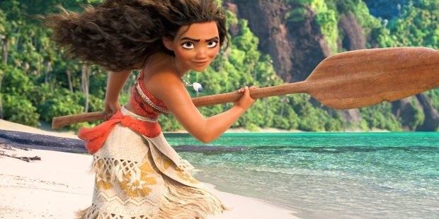 """The title character pals around with a demi-god, learns to sail and saves her civilization in """"Moana."""" (Walt Disney Studios)"""