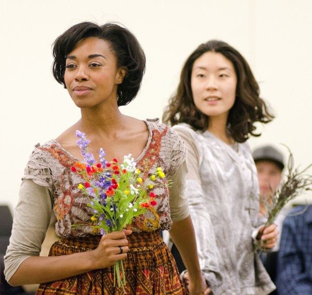 "Tatiana Williams and Audrey Park are in Ten Thousand Things' ""Pericles."" (Photo by Paula Keller)"