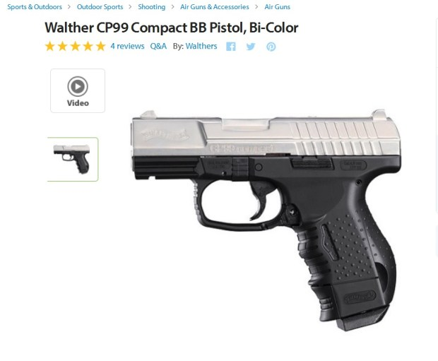 Screenshot of a Walther P99 Compact BB gun for sale online. The gun is similar to the one the Minnesota Supreme Court rules was not a 'firearm'
