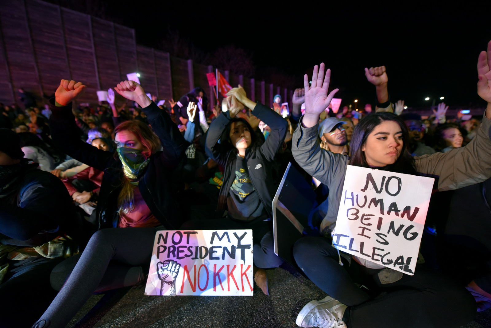 Image result for ANTI TRUMP PROTEST SHUTS DOWN INTERSTATE