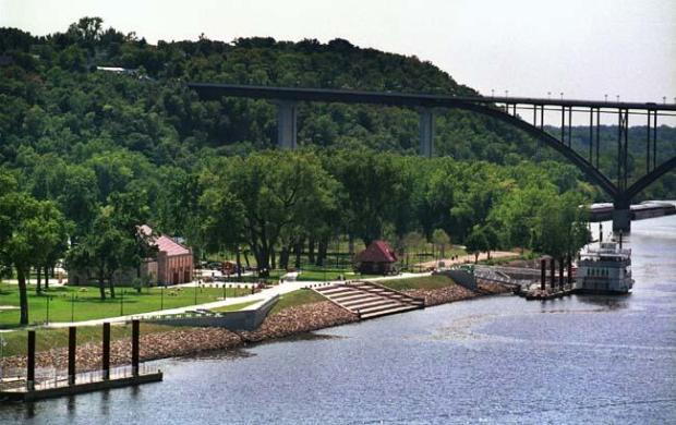 Harriet Island Regional Park, along the banks of the Mississippi River in St. Paul. (Pioneer Press archives)