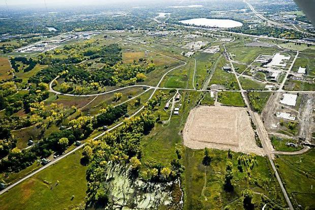 An aerial view of the Twin Cities Army Ammunition Plant in Arden Hills from October 8, 2013.(Pioneer Press file)